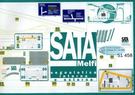 © 1993-1997 François-Noël TISSOT Une Identité Pour Demain ® Lavello-di-Melfi FIAT SATA Segnaletica : un linguaggio unico per l'utente