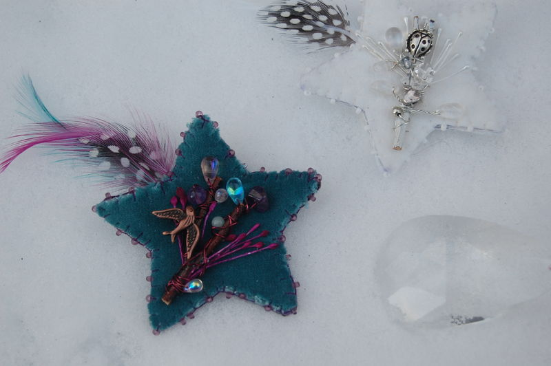 Etoiles filantes dans la neige