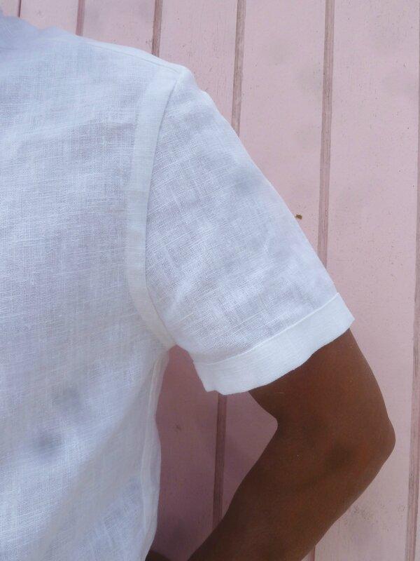 Chemise d'été en lin blanc First one (9)