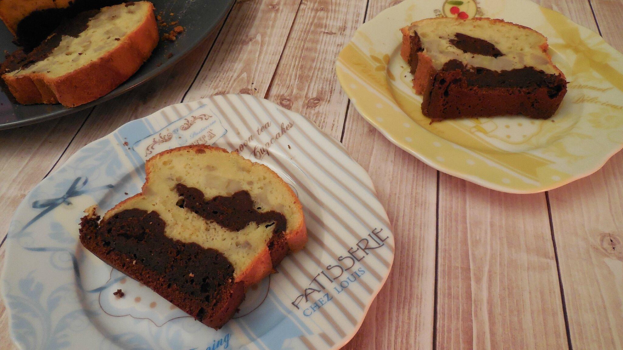 cake marbr banane chocolat blogs de cuisine. Black Bedroom Furniture Sets. Home Design Ideas