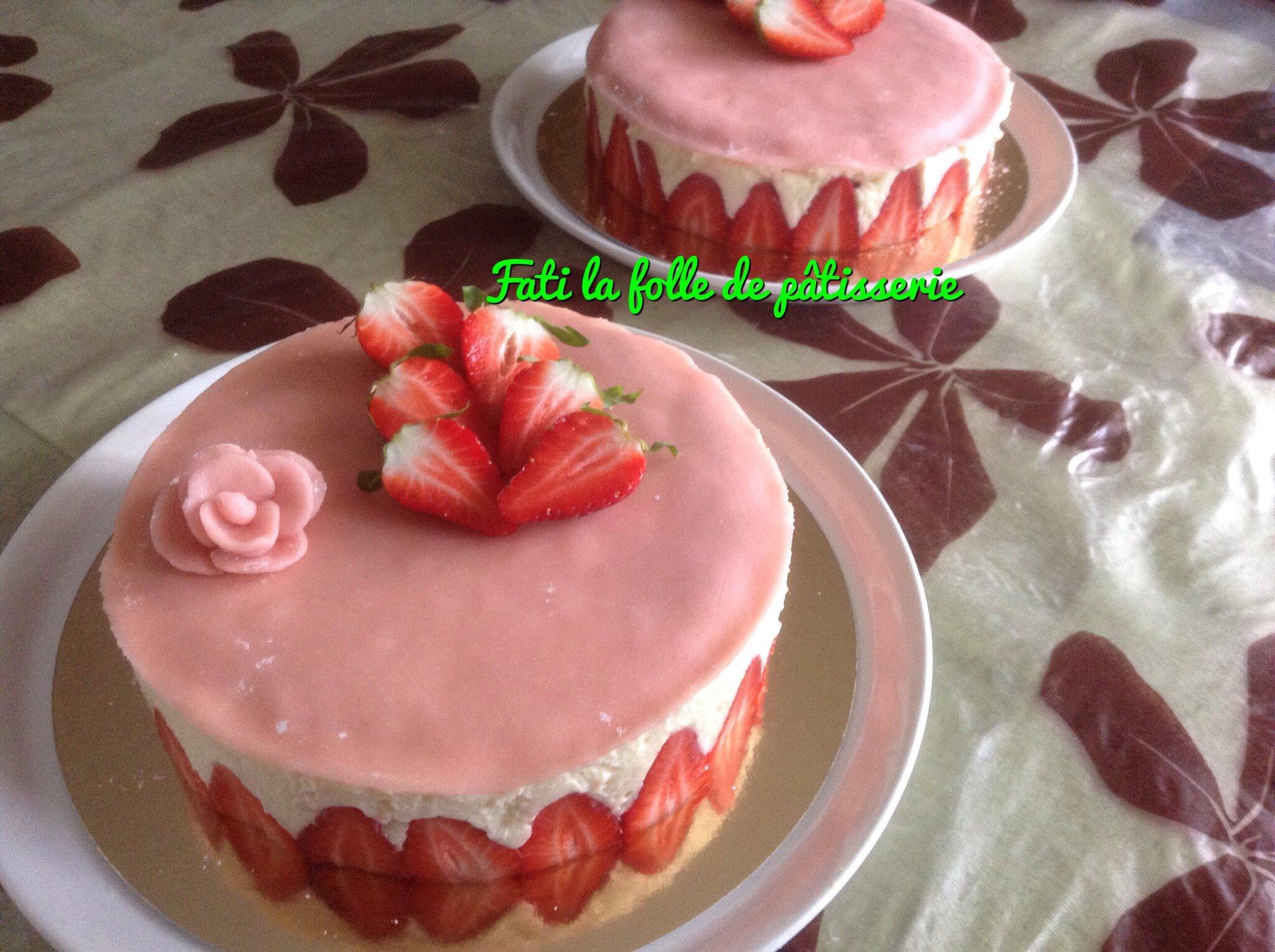 fraisier recouvert de pate d amande fati la folle de p 226 tisserie