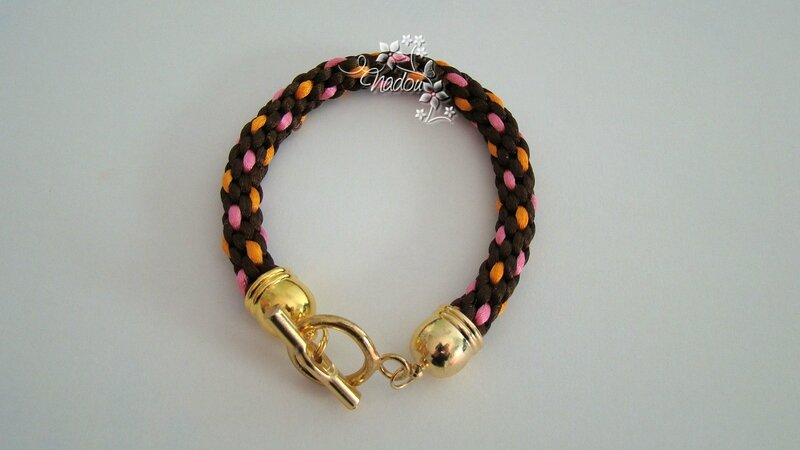 bracelet kumihimo doré
