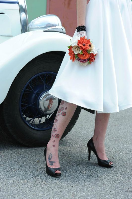 tatoo pour un mariage rock'n roll