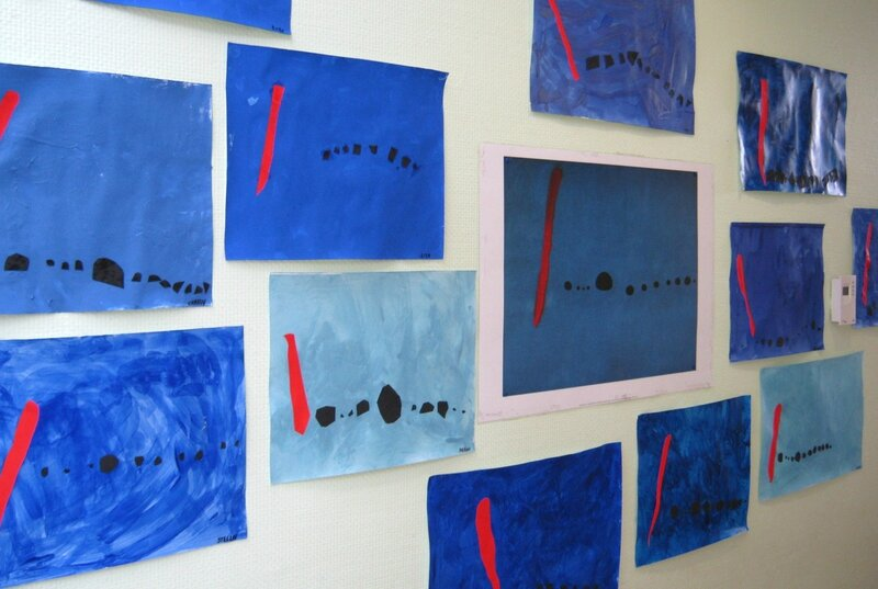 190_Composition abstraite_A la manière de Bleu II de Miro (19)