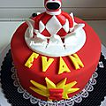 Gateau power rangers rouge