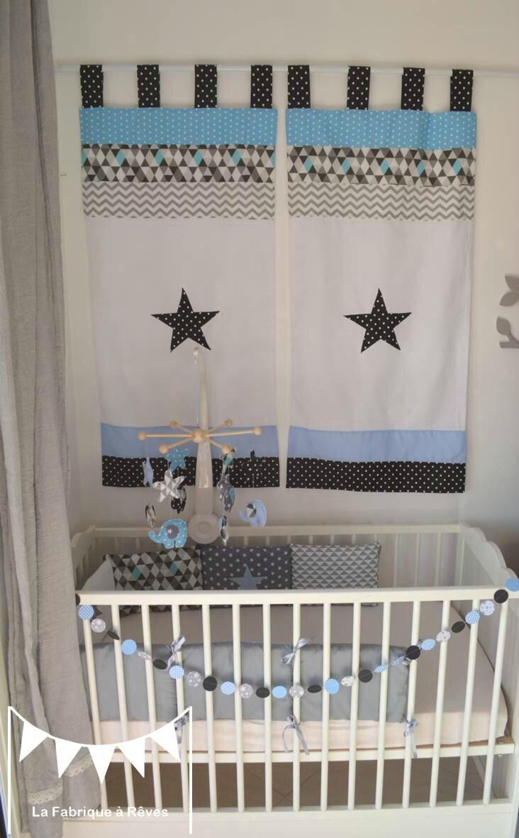 Vasque Salle De Bain En Verre : Décoration chambre enfant bébé bleu gris noir éléphant formes