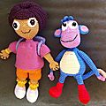 Dora et Babouche de face