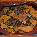 Tagine de veau aux rutabagas et abricots secs