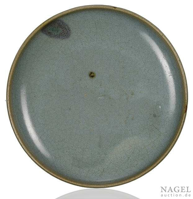 A purple-splashed lavender-glazed Junyao dish, China, Jin-Yuan dynasty