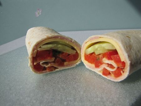 Wrap jambon-fromage