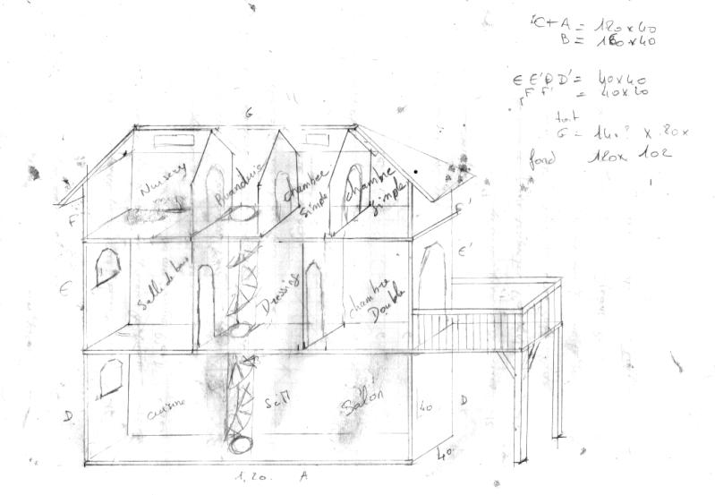maison de barbie pour noel aria cr ations. Black Bedroom Furniture Sets. Home Design Ideas