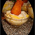Salade de mangue, banane au lait coco