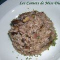 Risotto aux champignons et au vin rouge