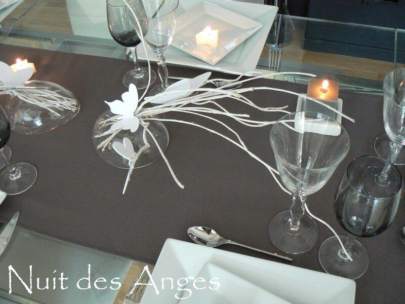 Nuit des anges décoratrice de mariage décoration de table papillons 006