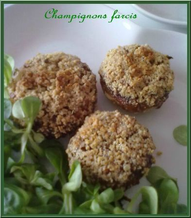 toutefemain, champignons farcies
