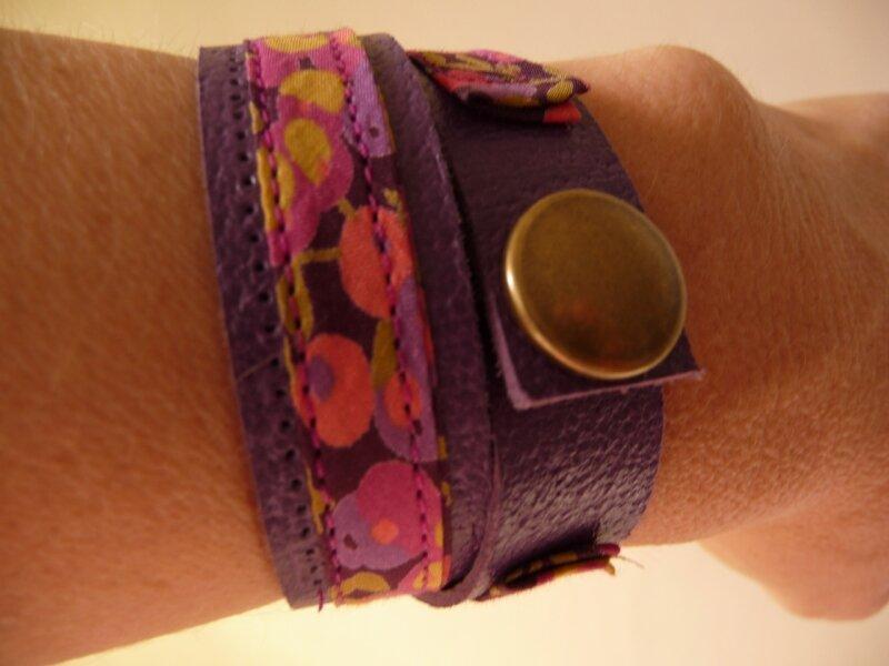 bracelet double - fermeture pression - liberty