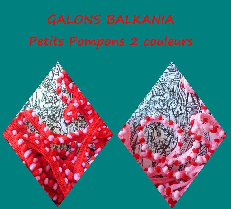 galon pompons balkania