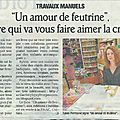 Dans le journal d'aujourd'hui...