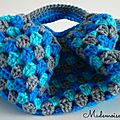 Mini sac boule bleu 1