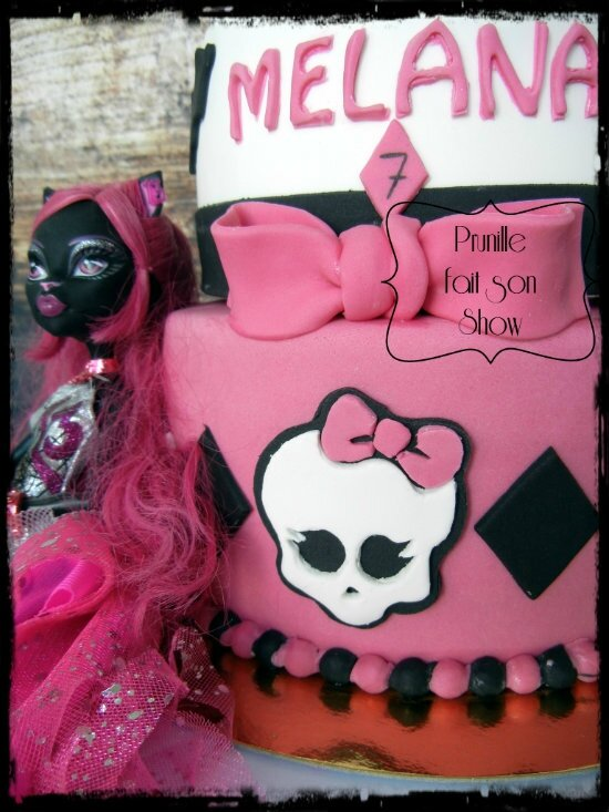 gateau monster high caty chat prunillefee 5
