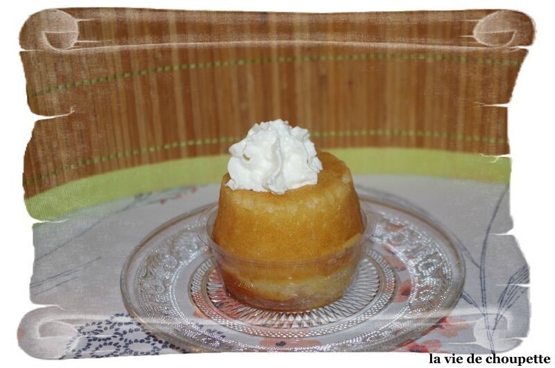 MINI BABA AU RHUM ET SA CHANTILLY