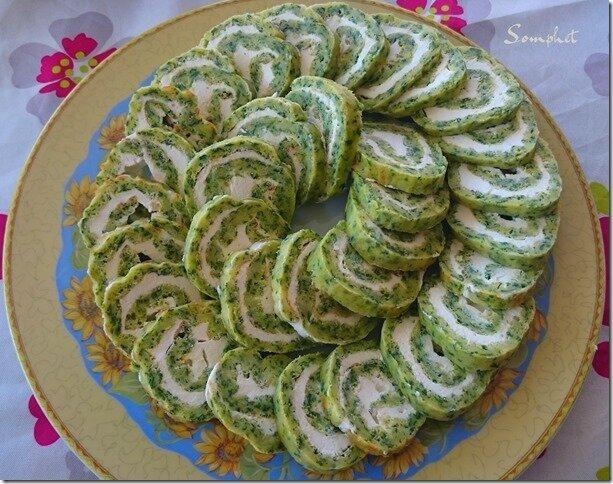 Roulés apéro épinards wasabi et fromage de chèvre