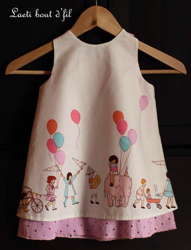 robe trapèze dos