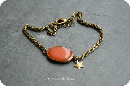 bracelet pastille ovale corail & etoile resized