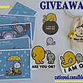 Giveaway goodies fluffy house