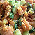 Poivrons farcis à la patate douce orange et courgette au curry