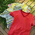Série de t.shirts...