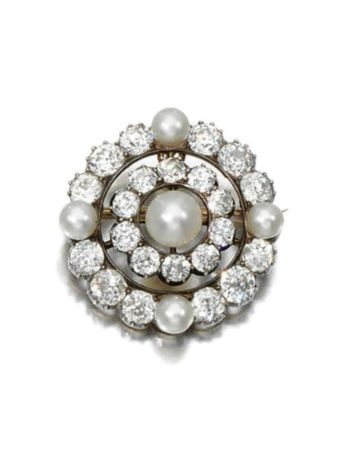 NATURAL_PEARL_AND_DIAMOND_BROOCH