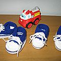 Chaussons style baskets