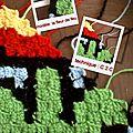Pixel art crochet