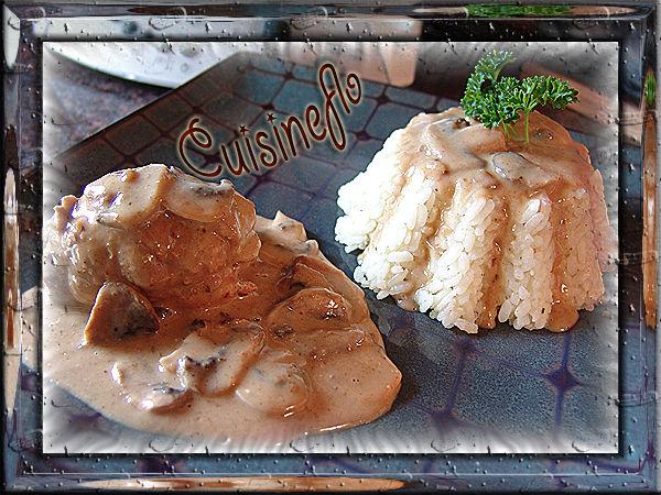 Escalopes roulées jambon fromage aux champignons de Cuisineflo
