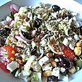 salade improvisée à la grecque