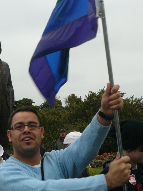 San Francisco : Manifestation pour le mariage homo, Bastien