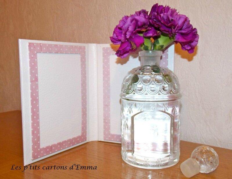 Porte photos coeur rose 2