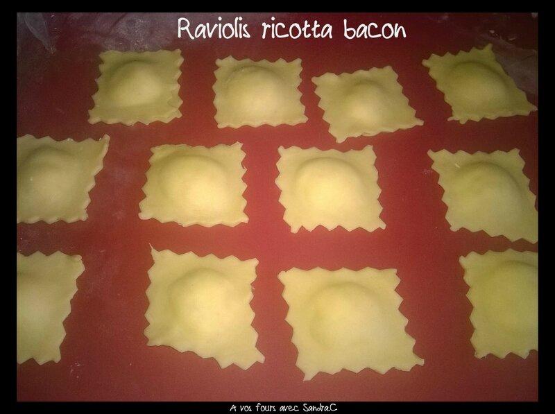 Raviolis ricotta bacon 2