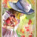Jeune fille au bouquet