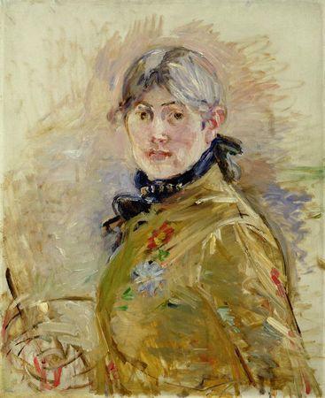 Berthe Morisot-autoportrait- 1885