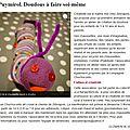 La dépêche 16/01/2013 : doudous à faire soi-même
