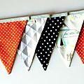 Banderole décoration bohême tipis pois étoiles
