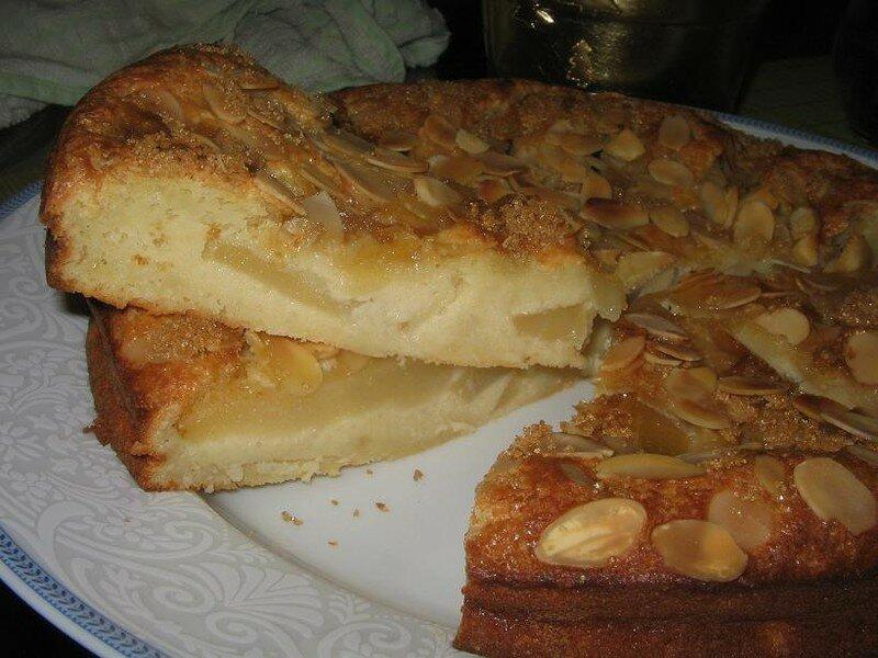 poires et amandes un bon gâteau moelleux pour la semaine de la