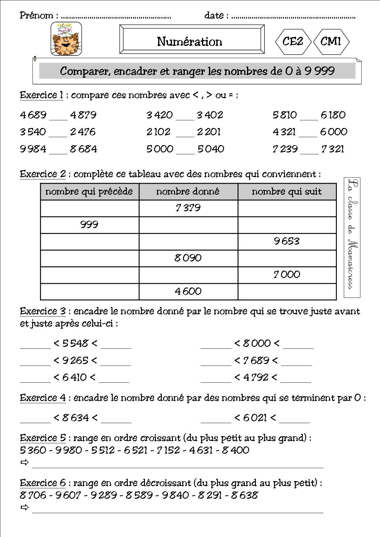 Numération et addition CE2/CM1 - La classe de Mamaicress