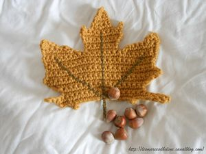 Crochet feuille erable
