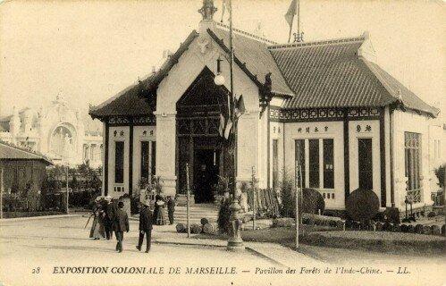 12. Exposition Coloniale Marseille 1906 pavillon des forêts de