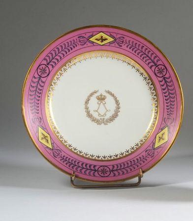 assiette plate travail de la manufacture imp riale de s vres marque en creux dat e 1807. Black Bedroom Furniture Sets. Home Design Ideas