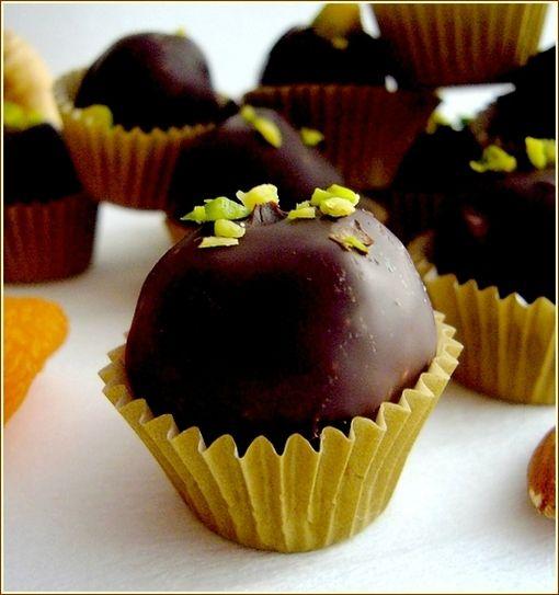 bouchées fruit secs et chcolat