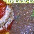 Tomates farcies et caviar d'aubergines
